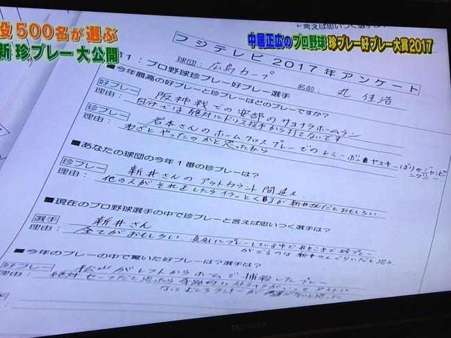 広島丸「新井さんのプレーは全てが面白い、松山に刺されるのは運がない」