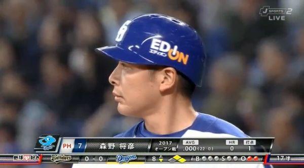 中日森野将彦 開幕二軍