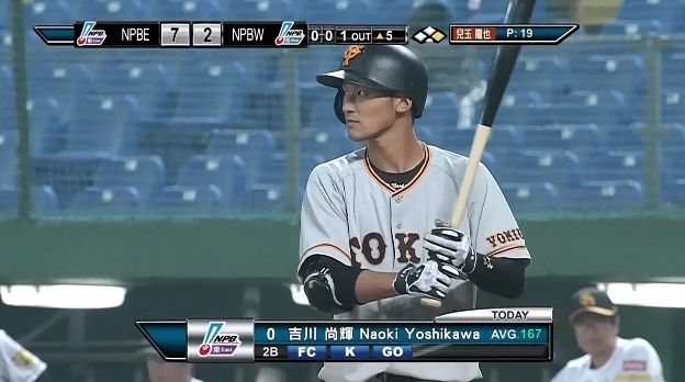 【台湾WL】巨人ドラ1吉川、4打席無安打1三振1併殺1盗塁死・・・ のサムネイル