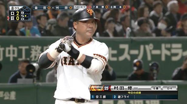 【悲報】昨年全試合スタメンの村田修一さん、マギーにレギュラーとられそう・・・