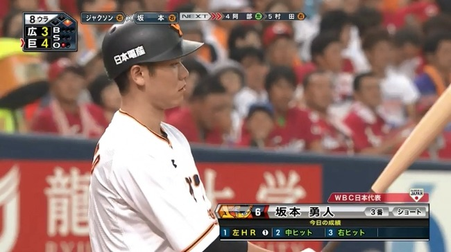 坂本勇人(巨) .336 11本 48打点 11盗塁 OPS.908