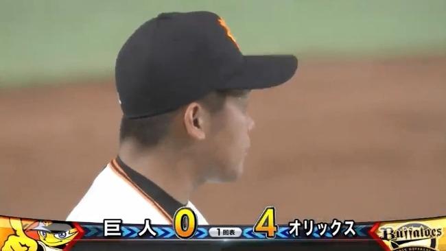 【巨人対オリックス2回戦】巨人田口、初回いきなり4失点の炎上・・・・・・
