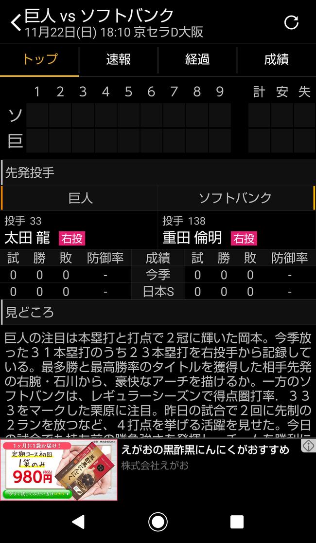 【誤植ネタ】ソフトバンクホークス、日本シリーズに育成選手を先発させる