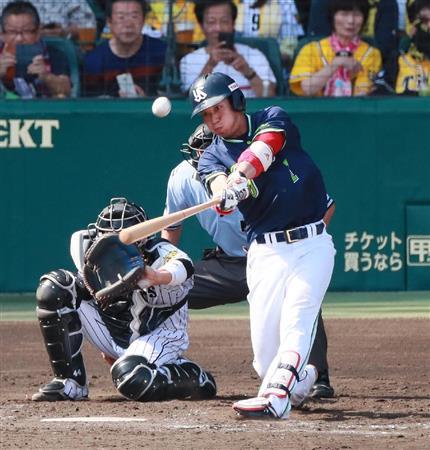 山田哲人 73試合 .219 11本 34打点 10盗塁 OPS.741
