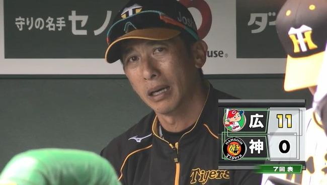 バッテリーエラー連発にあきれる阪神矢野二軍監督・・・