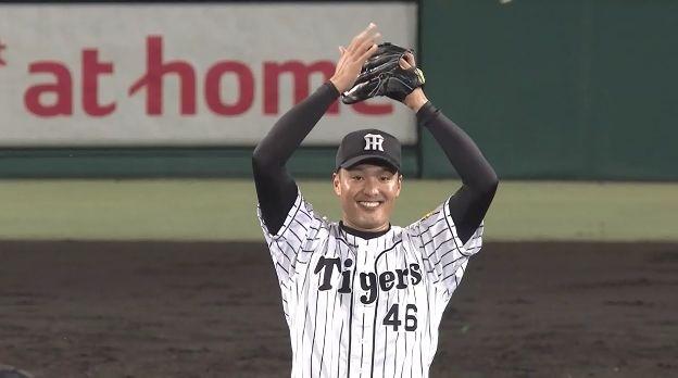 阪神が投打で圧倒 3連勝で貯金「11」 秋山がチーム一番乗り、7年ぶり完投勝利
