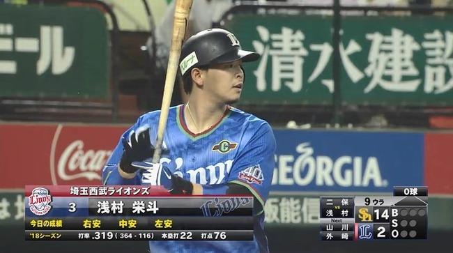 浅村栄斗(27) さん、うっかりFA取得年にキャリアハイペース