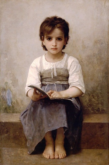 William-Adolphe_Bouguereau_The_Difficult_Lesson