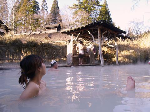 鶴の湯温泉の混浴露天風呂