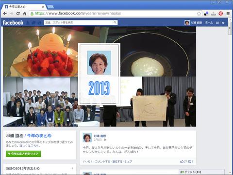 facebook 2013年のまとめ