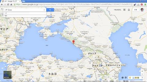 ソチの位置