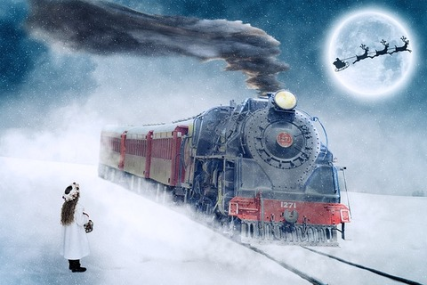 クリスマス蒸気機関車