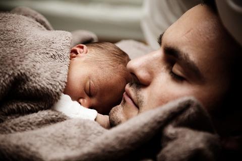 父親と赤ん坊