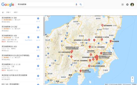 蒸気機関車地図(関東)