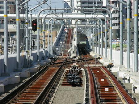 糀谷駅から京急蒲田方向を見る