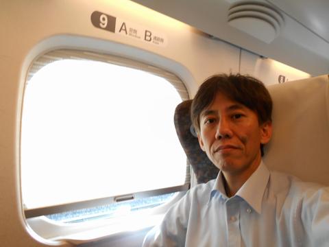 新幹線車内にて