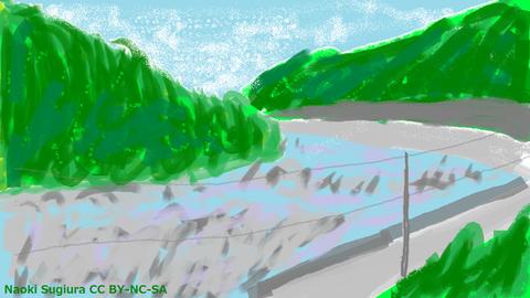 中央線車窓(木曽川)