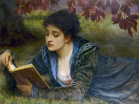 A Girl Reading Charles Edward Perugini