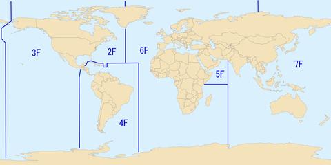 アメリカ海軍艦隊の担当地域