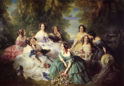 The Empress Eugenie Surrounded by Her Ladies