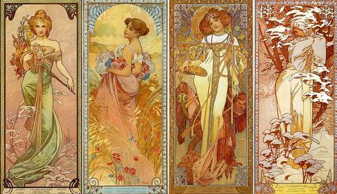 Les Quatre Saisons by Alfons Mucha (1902)s