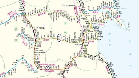 乗車した路線(奥羽本線・仙山線・東北本線・仙石線・陸羽東線)