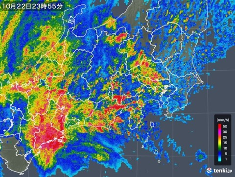 台風(10月22日)