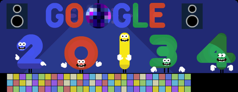 Google New Year Eve 2013