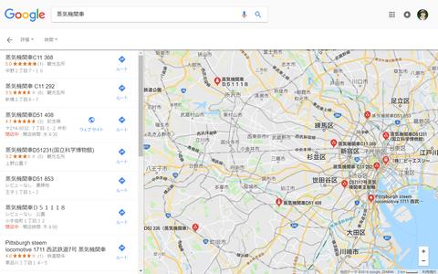 蒸気機関車地図(東京)