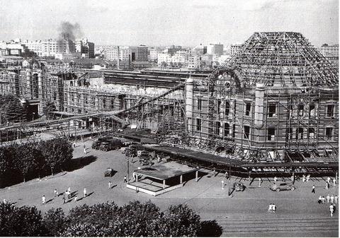 東京駅丸の内駅舎の戦災修復工事