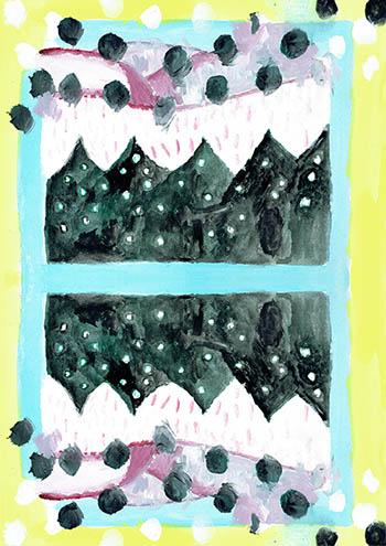 冬の包装紙a3