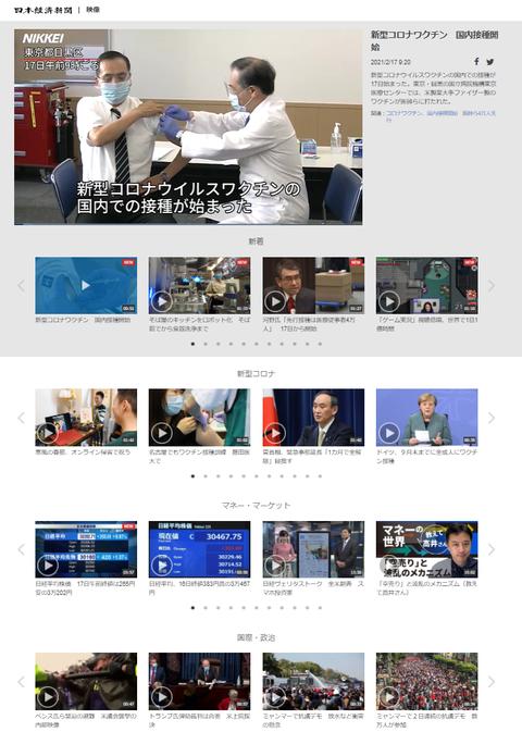 日本経済新聞 映像プレーヤー