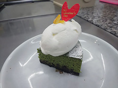 バレンタイン期間限定★抹茶のチョコレートチーズケーキ