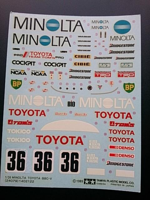 Lefty Diary!  ミノルタトヨタ88C-V。コメントトラックバック                レフティ