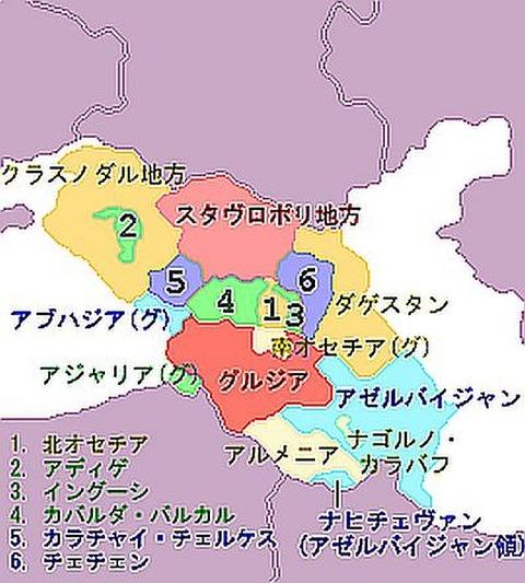 コーカサス地図