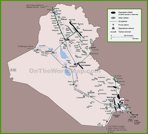 map-of-oil-infrastructure-in-iraq