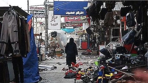 A-ravaged-marketplace-in-Mosul