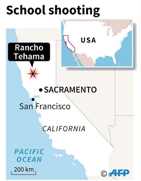 米加州の小学校などで銃乱射 4人死亡
