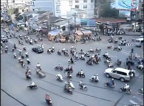 Traffic in Ho Chi Minh City