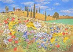 トスカーナの花野