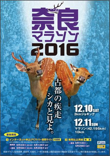 奈良マラソン2016 フライヤーおもて