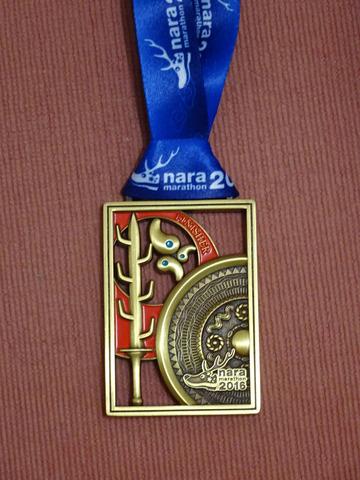 奈良マラソン2016 メダル おもて