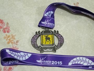 奈良マラソン2015 完走メダル おもて