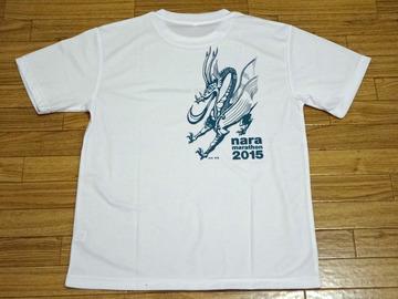 奈良マラソン2015 Tシャツ うら
