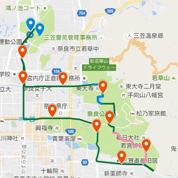 奈良マラソン10kmマラソンコース