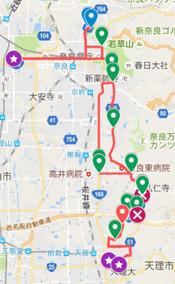 奈良マラソン GoogleMAP