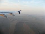 機内にて砂漠