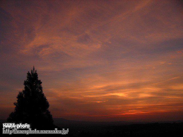 二月堂から見た夕焼け2