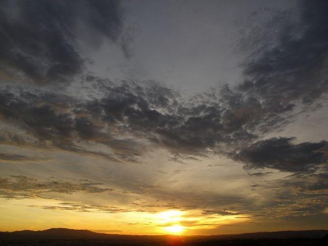 若草山から見た空1