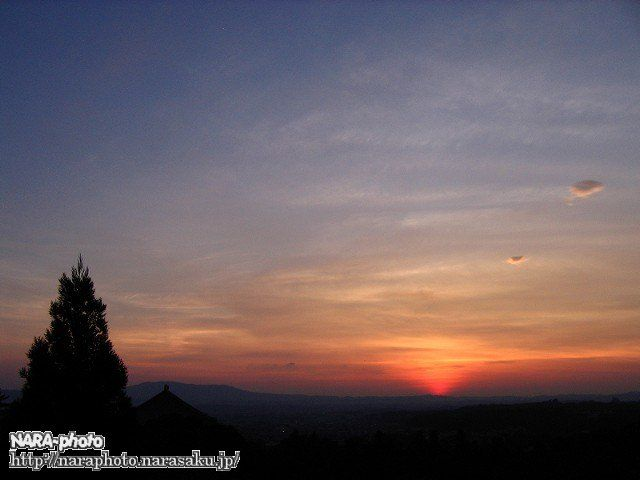 二月堂から見た夕日